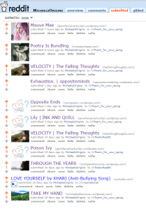 Reddit submitting links